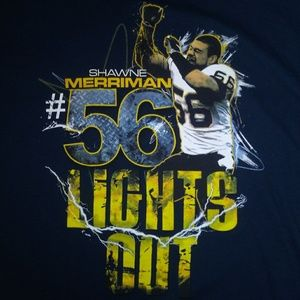 NFL Chargers Lights Out Shirt size Large